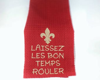 Fleur de lis towels, Kitchen Towels, Dish Towels, Tea Towels, Hand Towels, Towels, Cajun Towels, kitchen decor, decorative towels