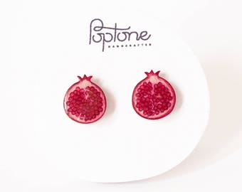 Pomegranate Earrings, pomegranate jewelry, fruit earrings, Rosh Hashanah Gift, Jewish Earrings