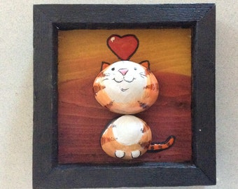 Stone art  ... kitty in love