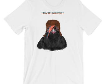 Unisex - David Bowie as David Crowie - short sleeve t-shirt