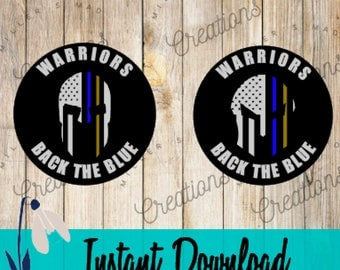 Warriors Back The Blue SVG, Spartan Back The Blue, 911 Dispatchers, Dispatchers Back The Blue, Behind The Thin Blue Line SVG