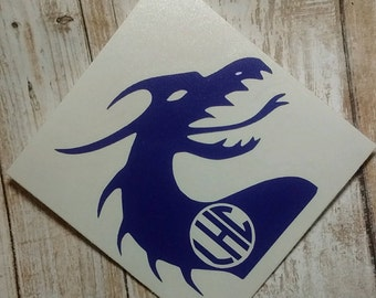 Dragon Monogram/Dragon Decal/Dragon Sticker/ Dragon Slayer/ Serpentine Decal/ Serpentine Monogram/Dragon/Chinese Dragon