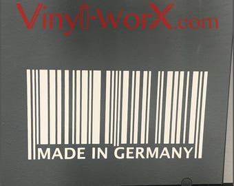 Made In Germany decal sticker | BMW M3 M4 M5 | Audi S3 S4 S5 S6 | VW GTI Jetta Passat Golf R | E30 E36 E39 E46 E60 E90 E92 F30 F32 F80 F82