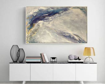 Large Abstract Oil Painting Gold Painting Wall Decor Modern Art Original Painting with textured detail Abstract Painting by Julia Kotenko