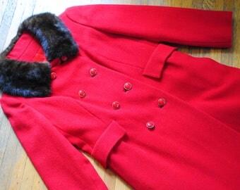 Vintage Mink Collared Coat