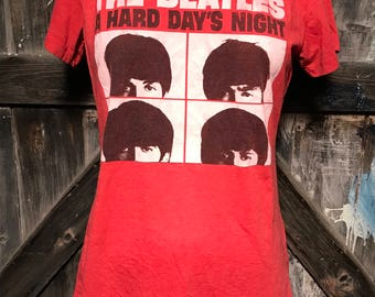 """The Beatles """"A Hard Day's Night"""" Tee Shirt Sz (small fitting) XL"""