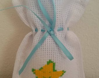 Stock 20 bags for cross stitch embroidered christening, birthday confetti