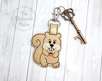 Squirrel Keychain - Key Fob