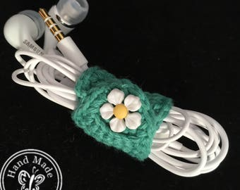 Earphones with Handmade Cable Tidy
