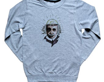 Albert Einstein sweater Science Geek Physics College Major Student Graphic Sweatshirt