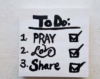 To Do List Sign, Hand-Lettered Board