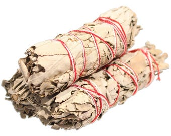 "3 FOR PRICE OF 1!White Sage Smudge 4"" Sticks,White Sage Herbal Cleansing Stick,White Sage Incense, Native American Herbs, Spirituality, Yoga"