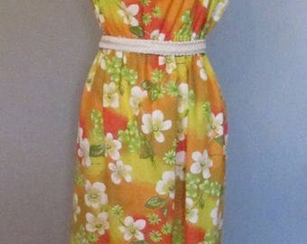 70s Cotton Floral Sundress