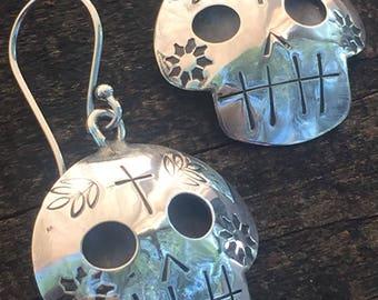 Tiny Sugar Skull Earrings