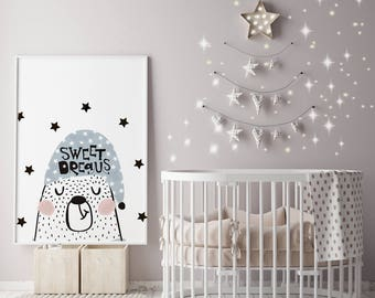 Scandinavian Nursery Art / Nursery Prints / Nursery Decor / Nursery Wall Art / DIGITAL DOWNLAOD