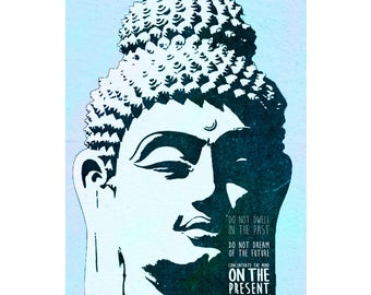 Buddha quote art photo print poster - 12x8 inches (30cm x 20cm) - Superb quality - N.0 1