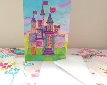 Princess Castle Greetings Card