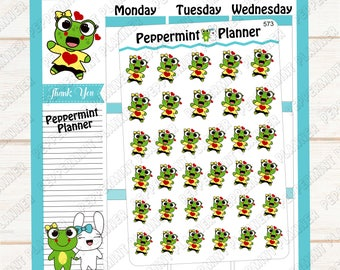 Lillypad super happy --- hand drawn planner stickers --- 573