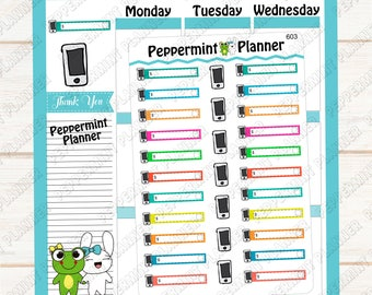 Cellphone Bill Due --- Planner Stickers --- 603
