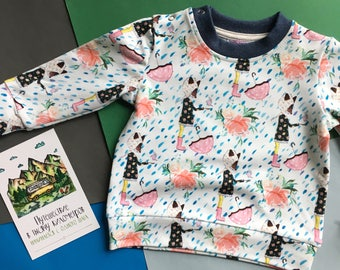 Baby Clothes, Colorful Umberella Rainbow Sweatshirt, Girlu0027s Paints Set,  Colors Fox Print