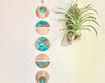 Copper Moon Phase Wall Hanging