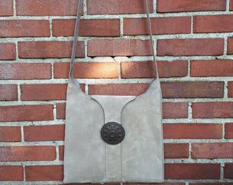 Suede bag,  Suede Shoulderbag, Cream Shoulder Bag, Women leather bag, Handmade leather Bag, Gift for her, Cream Suede Bag, Cream Leather Bag