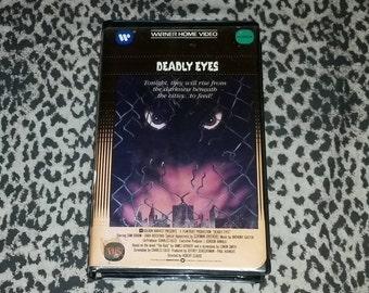 Deadly Eyes [VHS] Horror VHS Big Box Horror VHS Oop Htf Horror Vhs Warner Home Video Collectors Big Box Vhs Tape Rat 80s Horror Movie Vhs