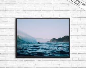 Ocean print, Sea print, Ocean photography, Surfing print, Waves wall print, Dark Blue Wall Art, Ocean poster, Waves photography, Ocean water