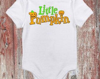 Little Pumpkin Halloween Baby Onsie Toddler Shirt