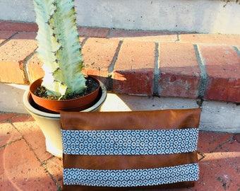 Honeycomb Vegan Leather - Essential Clutch