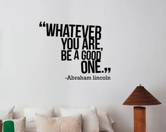 Whatever You Are Abraham Lincoln Motivational Quote Wall Sticker Vinyl Lettering Inspirational Decal Art Home Decorations Office Decor alq3