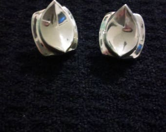 Vintage Mexican TAXCO Sterling Silver Earrings, Modernist, .925 Silver