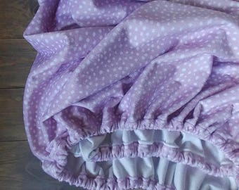 Minky Crib Sheet.Minky Changing Pad Cover.Lavender crib sheet.Lavender Nursery.Floral Crib Set.Floral Nursery.Lavender crib skirt.blanket
