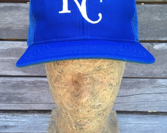Vintage deadstock 80s Kansas City Royals mesh snapback trucker hat - One Size - baseball cap