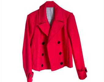SALE - SIZE SMALL - Vintage 80s Red Night Out Jacket