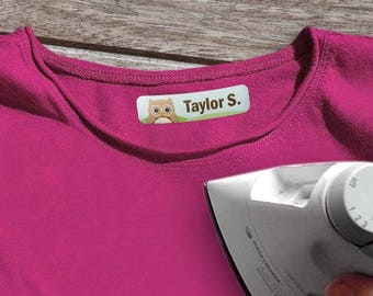 Custom kids clothing labels, iron on kid clothing labels, heat transfer name labels