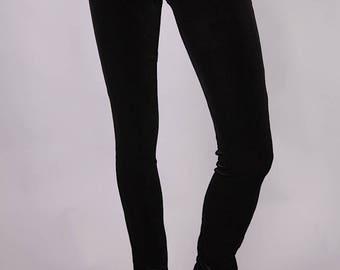 BLACK LEGGINGS VELVET