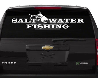 Salt Water Fishingr ~Car Decal ~Laptop Decal ~ Yeti Cup Decal~ Sticker