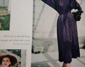 Fall/Winter 1950 Vogue Knitting Book Original Knitting Pattern Book True Vintage