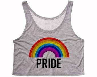 Rainbow pride crop tank, gay pride, pride rainbow, lgbt pride, pride flag, gay rainbow, gifts for gays, pride shirts, pride gifts