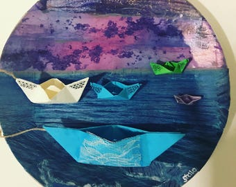 Art on Plate - Boats on a plate