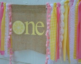 Pink Lemonade Birthday, Lemonade Highchair Banner, Pink Lemonade Birthday Invite, Lemonade Cake Smash, Little Sunshine Birthday