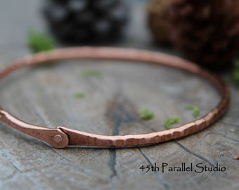 Hammered Copper Bangle, Raw Copper Bangle, Thin Copper Bangle, Copper Bracelet, Copper Jewelry, Hammered Copper, Bangle, Rustic Copper