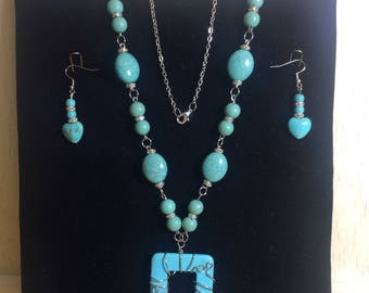 Wired Necklace & matching Earrings
