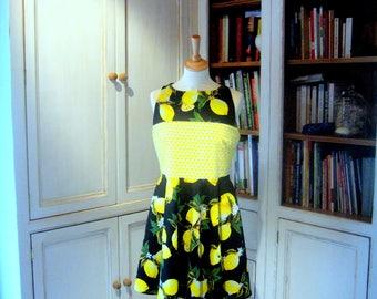 """""""Lemon squeeze"""" dress size 36/38"""
