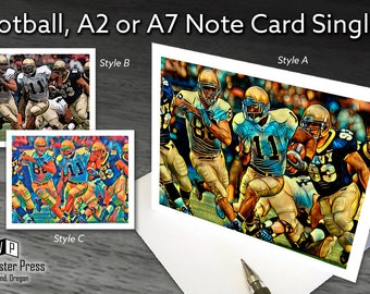 Football Cards, Football Birthday Card, Birthday Card for Man, Birthday Card Football, Sports Cards for Guys, Dad Birthday Card Football