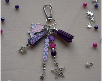 Keychain bag charm personalized (x) Word (s) or name (s) of your choice