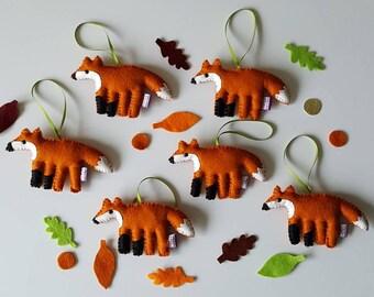 Fox decoration-felt fox- fox- kids decor-festive fox-woodland animal