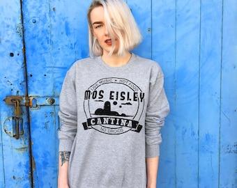 Mos Eisley Cantina, Star Wars Design | Grey Sweatshirt/Jumper