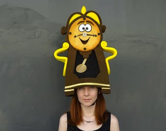 Cogsworth clock headdress, Beauty and the Beast, Musical theatre, Foam costume